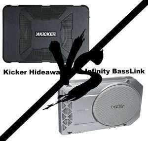 Kicker Hideaway vs. Infinity Basslink